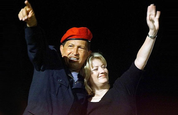 Hugo Chavez with wife Maria Isabel