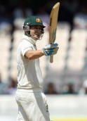 Michael Clarke celebrates his Fifty