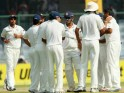 R Ashwin celebrates the wicket of Peter Siddle