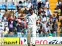 Murali Vijay celebrates his 150 runs