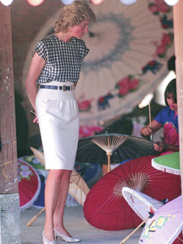 Diana on an official visit to Thailand
