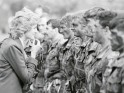 Diana interacts with the Royal Hampshire Regiment in Berlin.