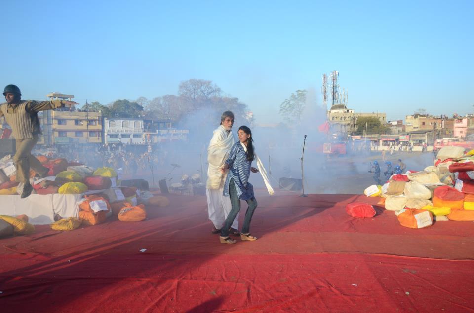 Amitabh Bachchan and Amrita Rao
