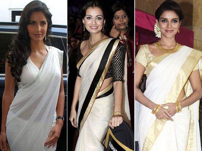 White saris