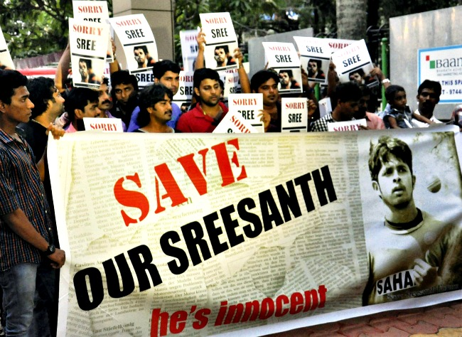 Fans of Sreesanth