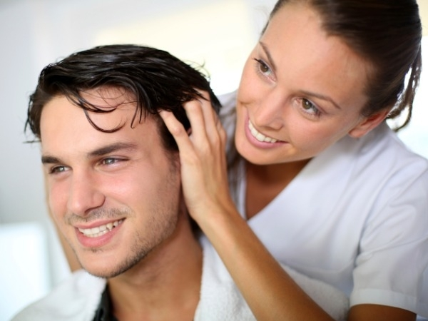 Hair care: 20 Ways to Reduce Hair Loss in Men: scalp massage
