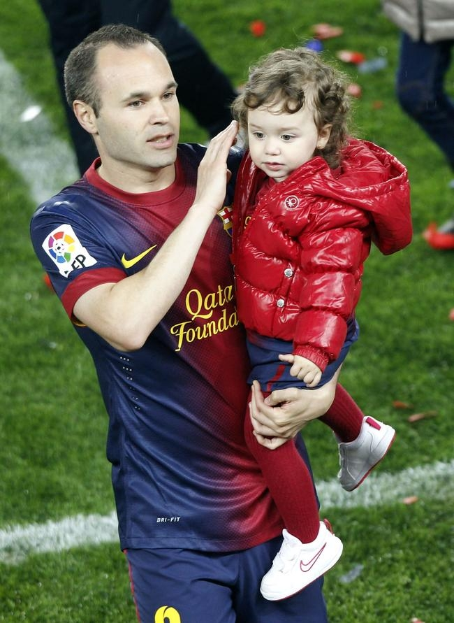 Andres Iniesta and Valeria