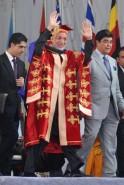 Pranab Mukherjee Confers Degree on Afghan President Hamid Karzai