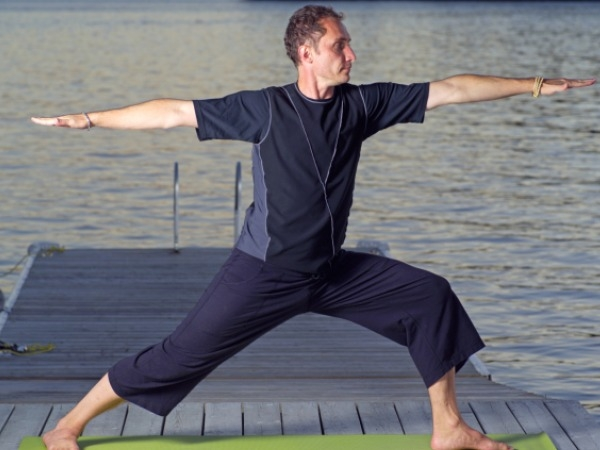 Yoga Postures for Weight loss : Yoga Poses to Lose Weight : Warrior Pose