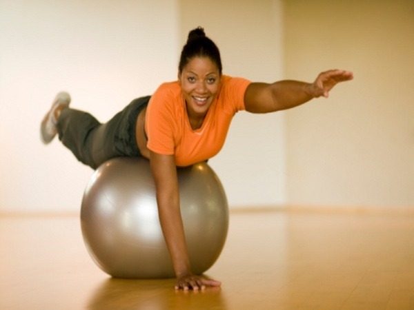 Workout for Sexy Body # 9: Ball balance