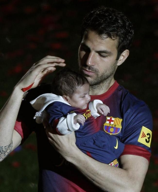 Cesc Fabregas and Lia