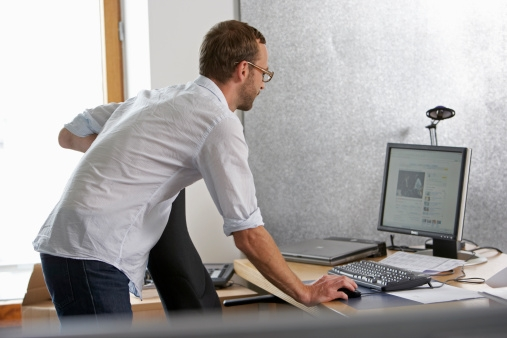 Wellness Tip for Office Employees # 2: Adjust your laptop stand