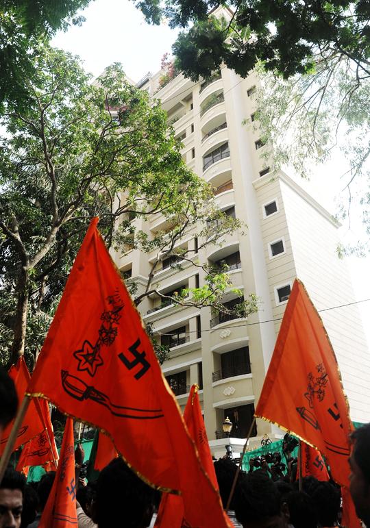 Protest against Sanjay Dutt