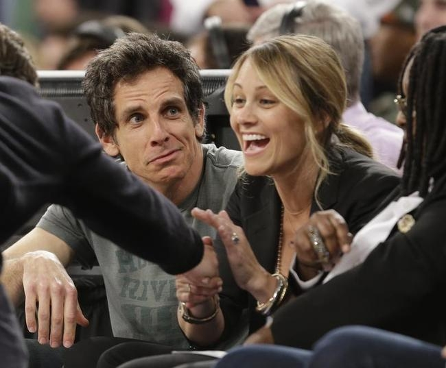 Ben Stiller and Christine Taylor
