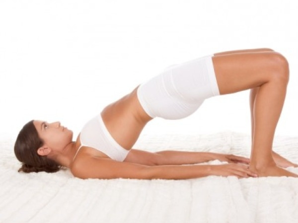 Back Pain: 20 Yoga Poses for Backache : Setu Bandhasana (bridge pose)