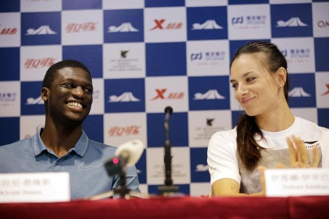 Kirani James and Yelena Isinbayeva