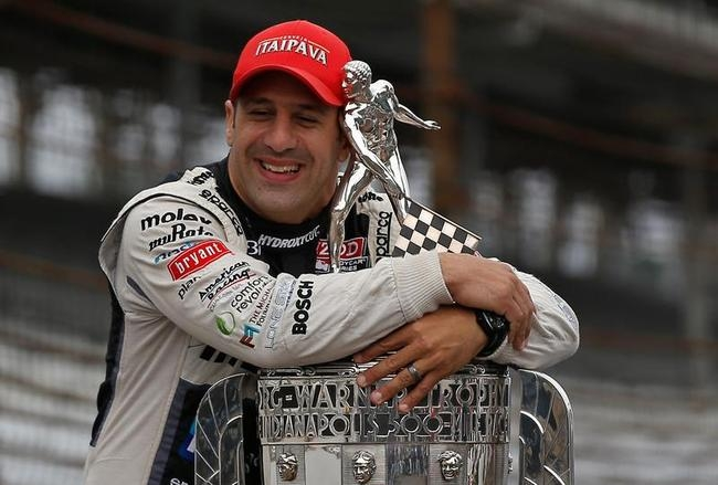 Tony Kanaan Celebrates Indianapolis 500 Win