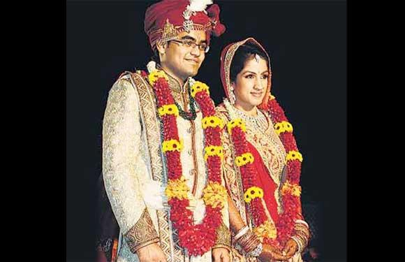 Vivek Biyani and Tanushri Dhoot