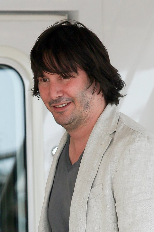 Unrecognizable Keanu Reeves At Cannes