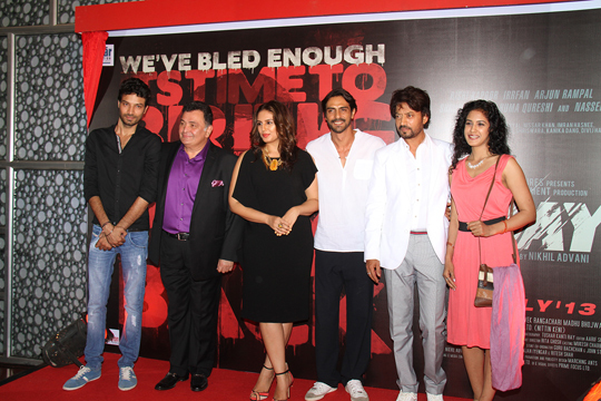 Rishi Kapoor, Huma Qureshi, Arjun Rampal, Irrfan Khan