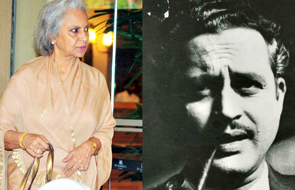 Waheeda Rahman and Guru Dutt