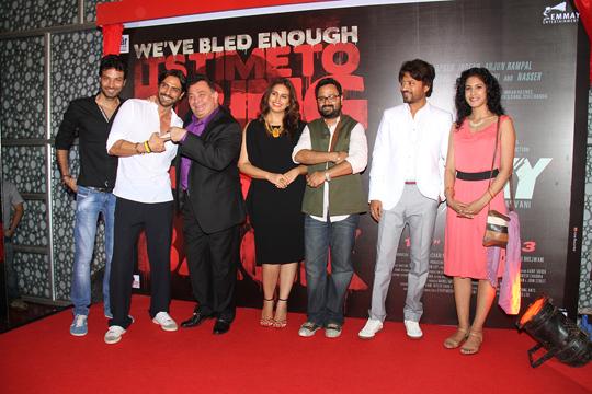 Arjun Rampal, Rishi Kapoor, Huma Qureshi, Nikhil Advani, Irrfan Khan