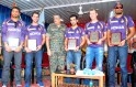 Gautam Ghambhir, Yusuf Pathan, Brett Lee, Manvinder Bisla and Ryan ten Doeschate