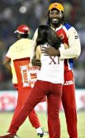 Preity Zinta and Chris Gayle