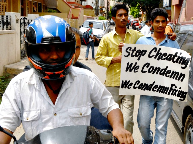 Protest against Spot-Fixing