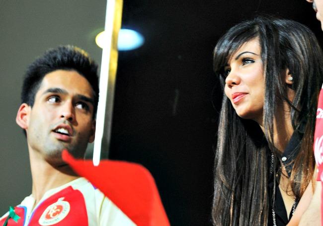 Siddharth Mallya and Sharmila Nicollet