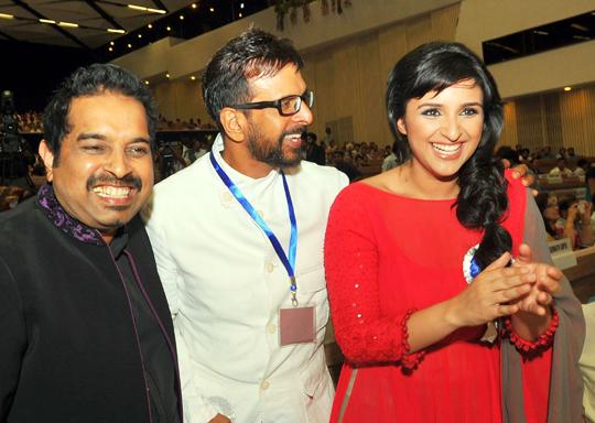 Shankar Mahadevan, Jaaved Jaafrey, Parineeti Chopra