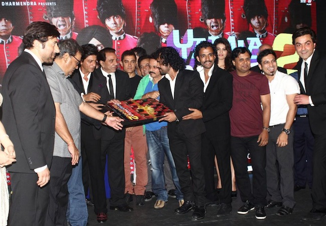 Sunny Deol, Subhash Ghai, Dharmendra, Bobby Deol