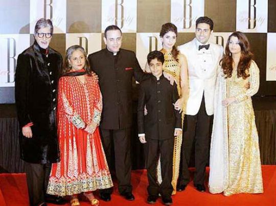 Nikhil Nanda and Shweta Bachchan