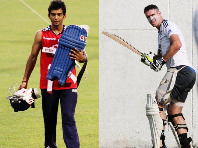 Unmukt Chand and Kevin Pietersen