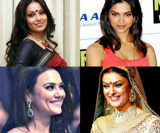 dimpled bollywood actresses