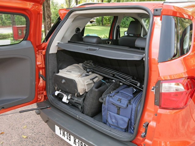 Ford EcoSport boot space