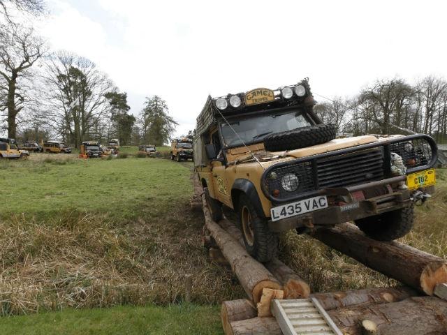 The Land Rover Defender Camel display