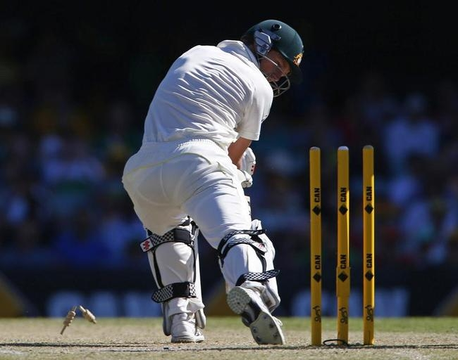George Bailey is Bowled By Graeme Swann