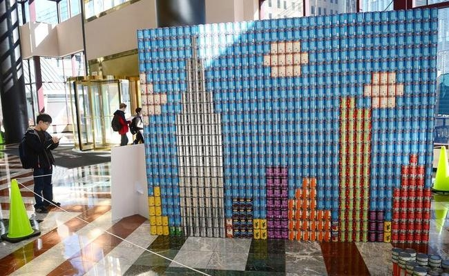 Canstruction: Art Made From Food Cans