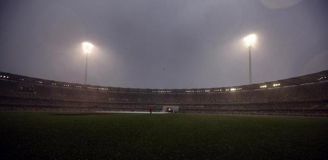 Rain Delay: The possibility of resumption looked bleak; England were 160/8