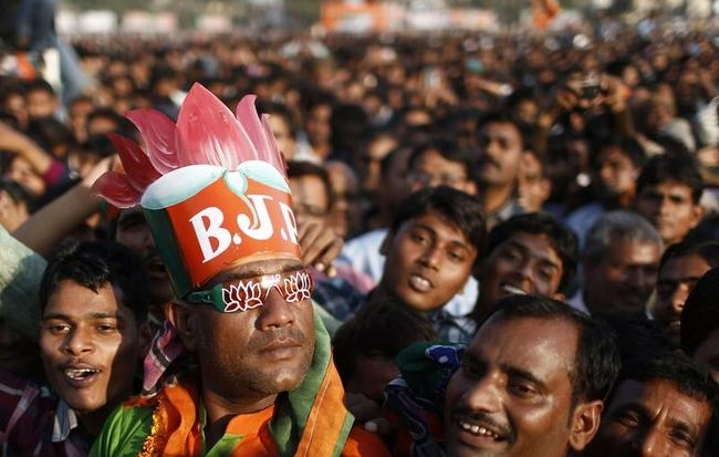 A supporter of India