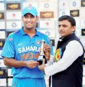 Dhoni With the Winner
