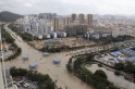 A view of flooded streets after rainstorms triggered by Typhoon Haiyan hit Sanya, Hainan province