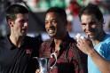 Will Smith, Rafael Nadal and Novak Djokovic