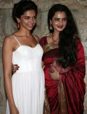 Rekha and Deepika Padukone
