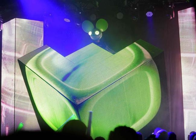 """DJ Joel Thomas Zimmerman """" Deadmau5"""" performs at the Xbox One fan celebration and launch party in Los Angeles, California"""