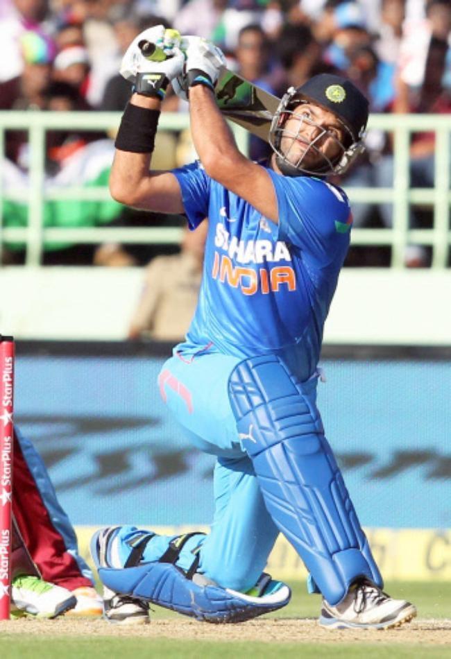Yuvraj Singh was watchful but fell for 28