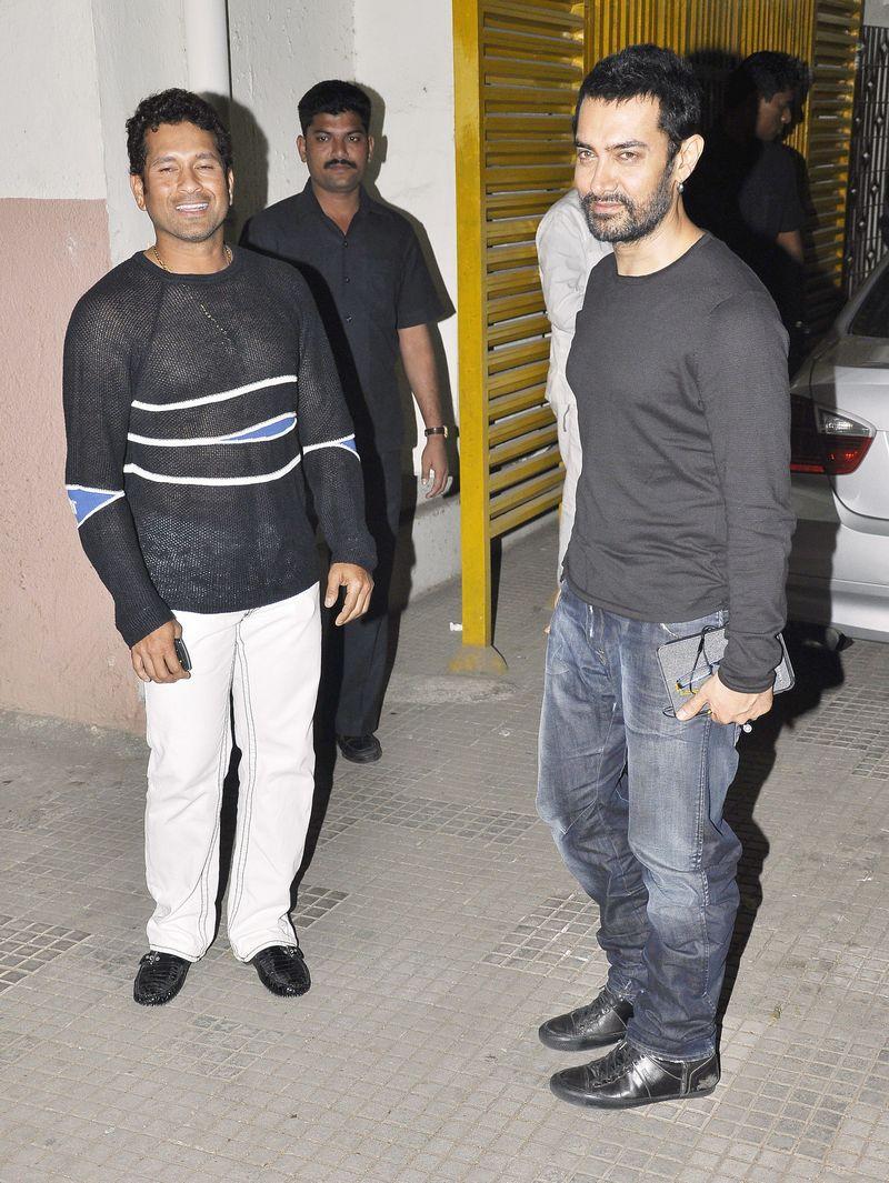 Aamir Khan and Sachin Tendulkar