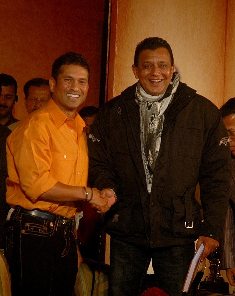 Sachin Tendulkar and Mithun Chakborty