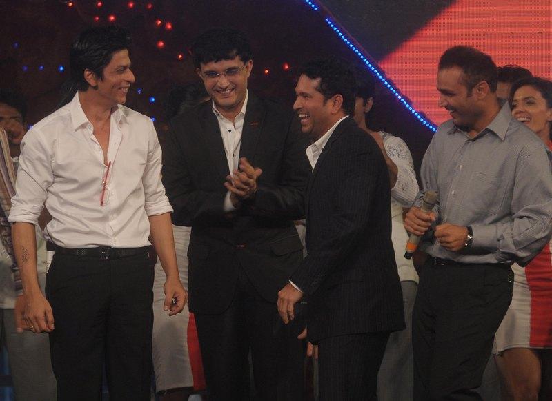 Shah Rukh Khan, Virender Sehwag, Sourav Ganguly, Virender Sehwag